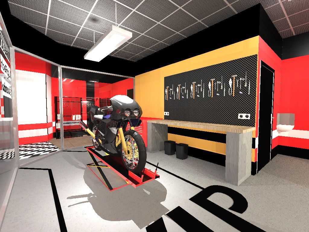 Amenagement garage atelier moto atelier retouche paris for Decoration maison automobile