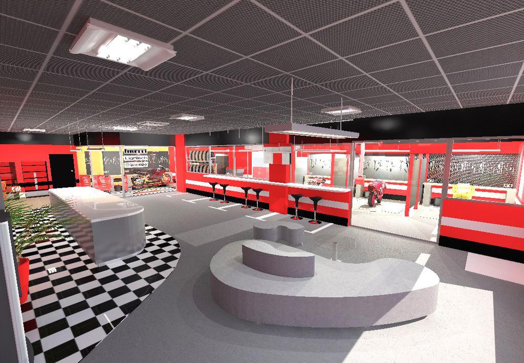 Projet achitecte int rieur agencement garage motos nice - Amenagement interieur de garage ...