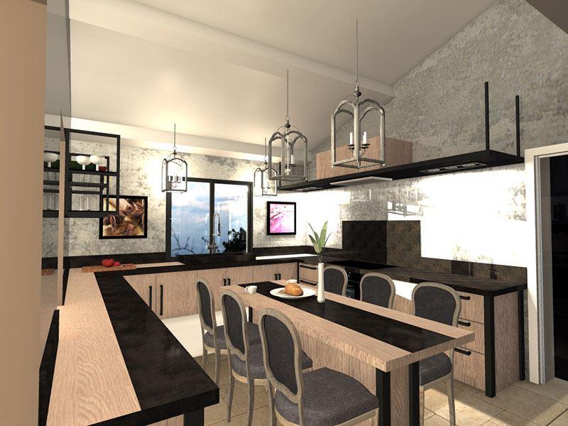 Projet D 39 Am Nagement De Cuisine Et Salon Saint Maximim Dans Le Var