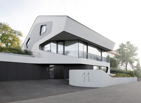 Maison design projet ols house devanture maison