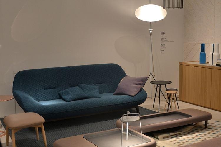 Photo dun espace salon canapé au salon maison et objets de paris 2014