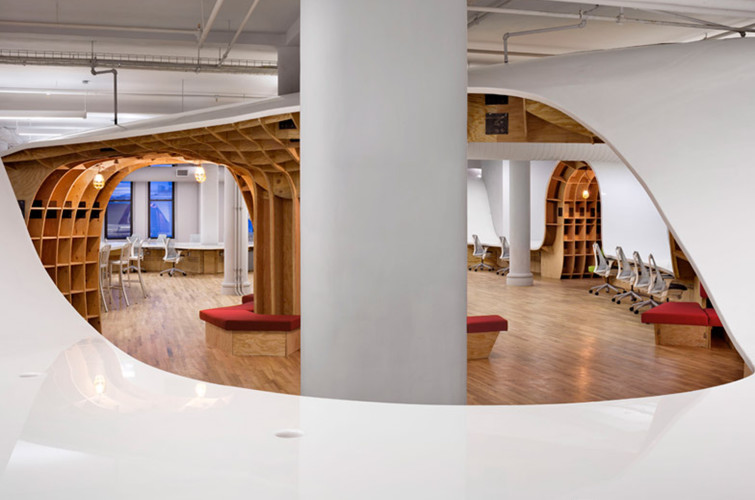 Agencement et design d 39 espace hallucinant new york - Agencement bureau design ...