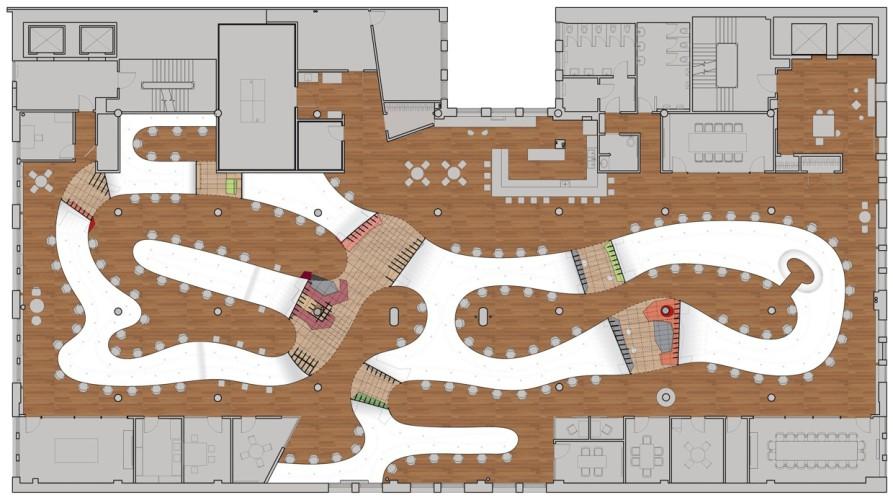 plan de la table d'architecte par clive wilkinson