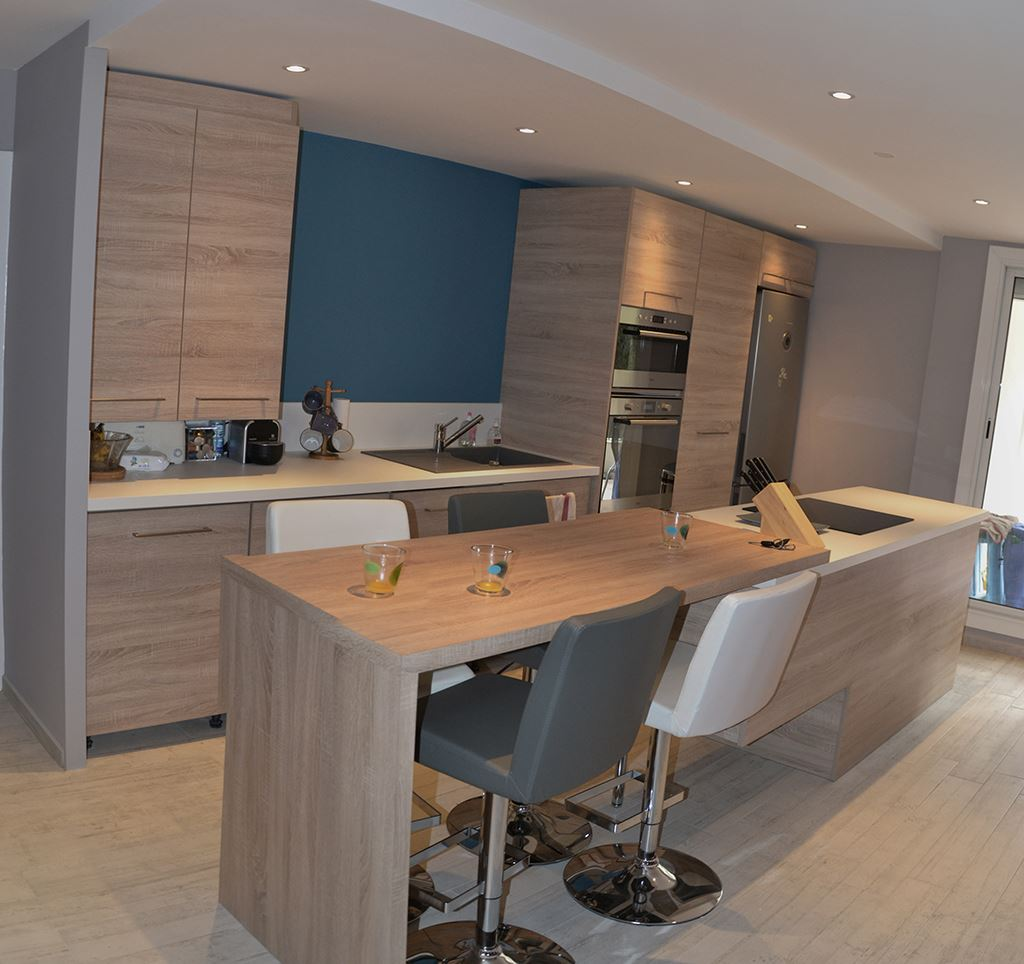 am nagement cuisine et salon style nordique la seyne sur mer. Black Bedroom Furniture Sets. Home Design Ideas