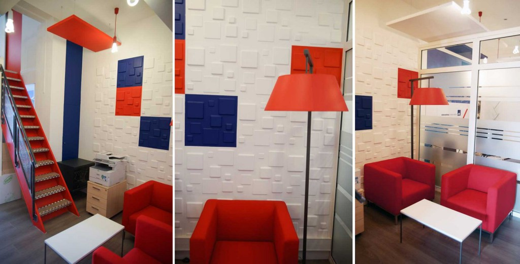 décoration bureaux AXA par carl tran architecte d'intérieur