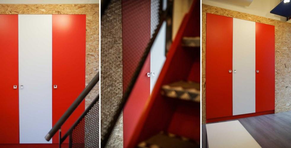 Décoration rouge et blanche pour axa Toulon