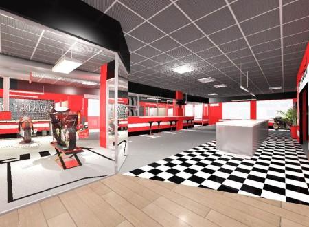 Décoration d'intérieur racing garage moto nice