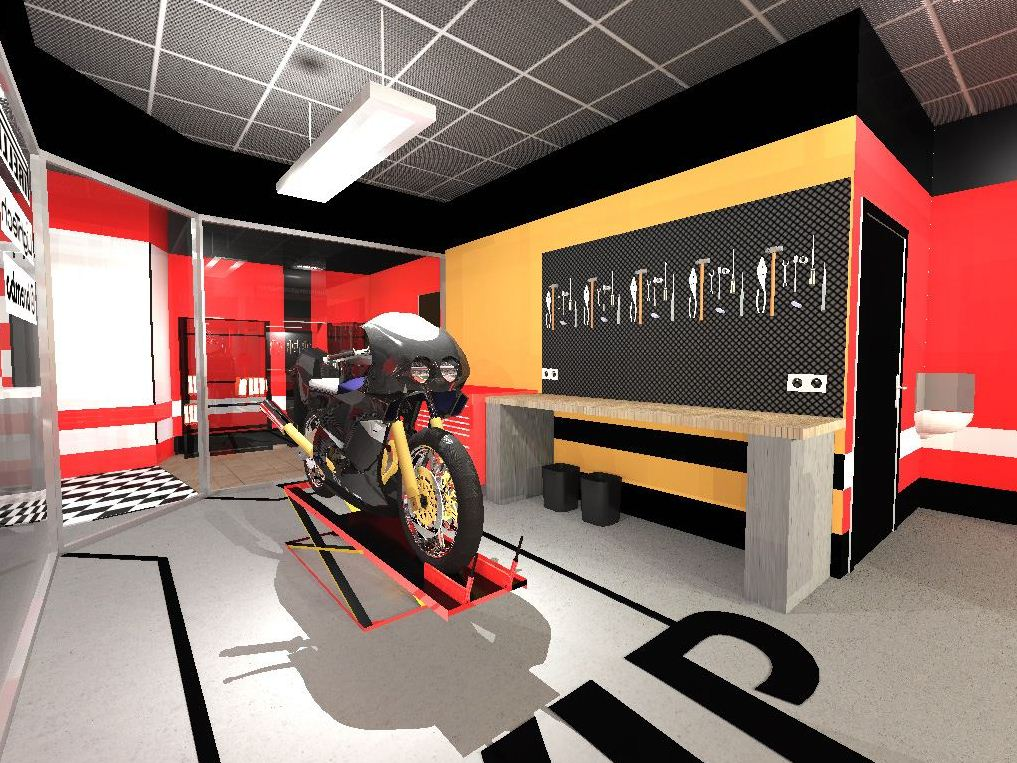 Projet achitecte int rieur agencement garage motos nice for Garage moto occasion