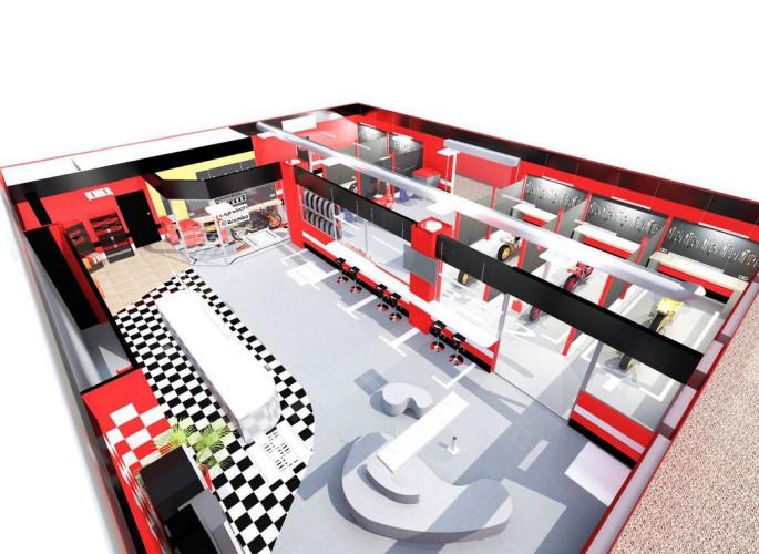 Plan 3D design d'intérieur garage moto à Nice 06