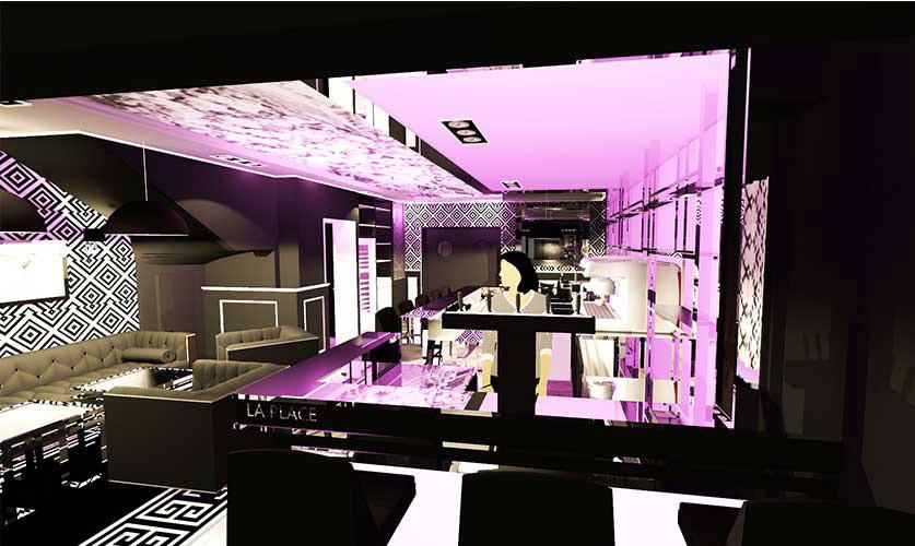 Agencement décoration de restaurant roquebrune sur argens La place carl tran 02