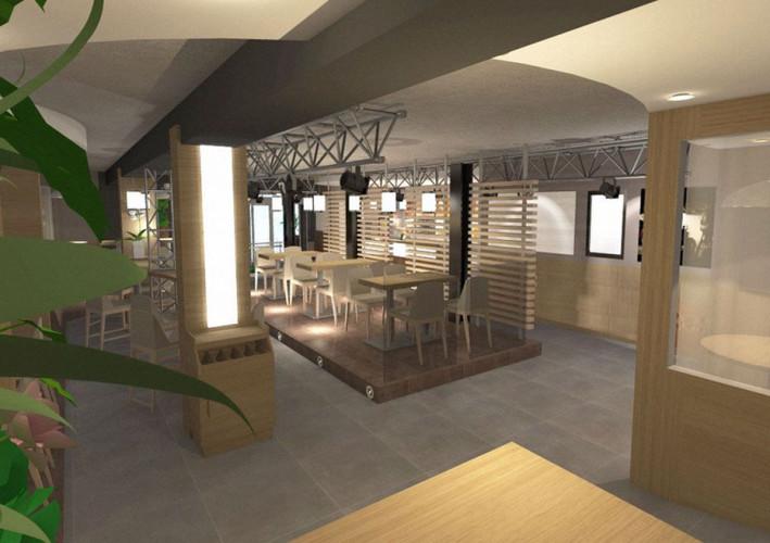 Architecture 3D nouveau restaurant var