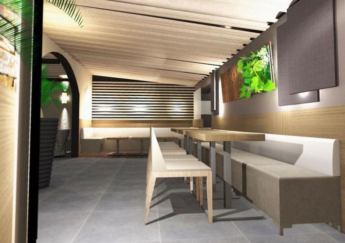 Dessin d'architecte projet d'agencement de restaurant dans le var