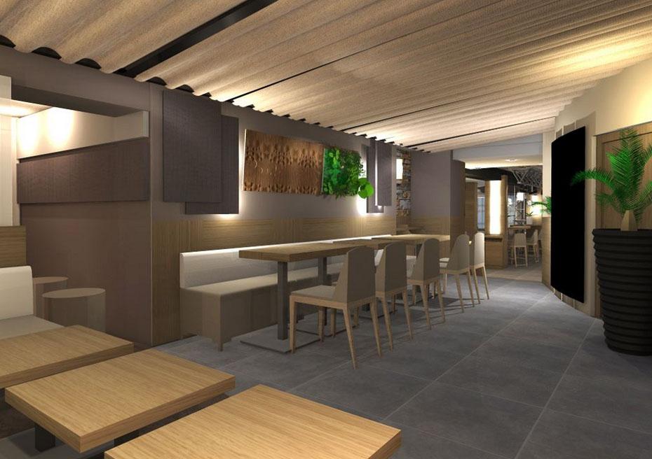 Création de restaurant contemporain et agencement - St Tropez