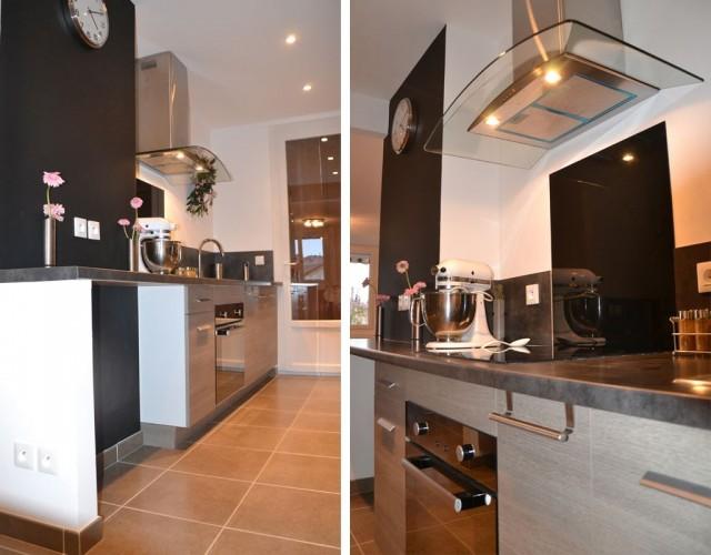 déco cuisine moderne dans une maison située à oulon dans le Var