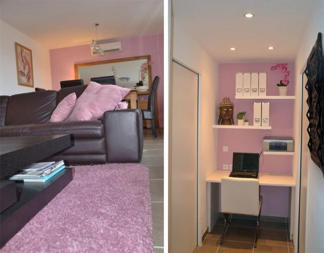 salon cosy décoration et réalisation par nos soins