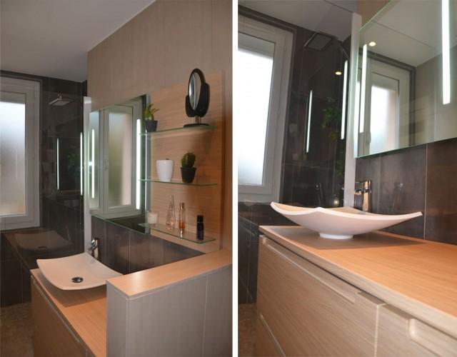 salle de bain décorée par nos soins de l appartement situé à Toulon