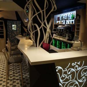 agencement restaurant bar brasserie par un archi d 39 int rieur. Black Bedroom Furniture Sets. Home Design Ideas