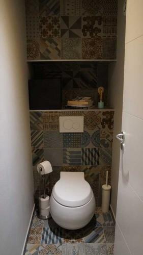 Toilettes par un architecte d'intérieur