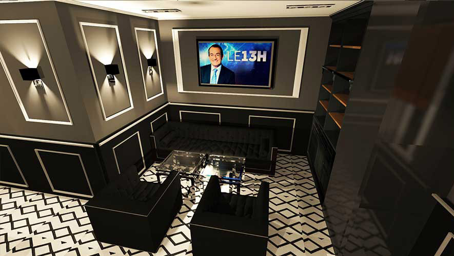 design d'intérieur restaurant par architecte d'intérieur 3D