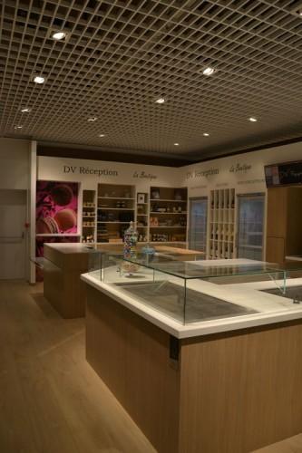 Réalisation agencement architecte stand traiteur centre commercial
