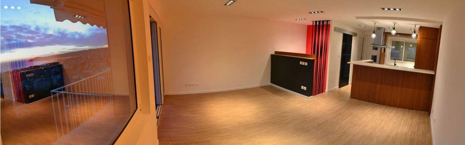 Grand salon décoré par notre architecte à Six fours