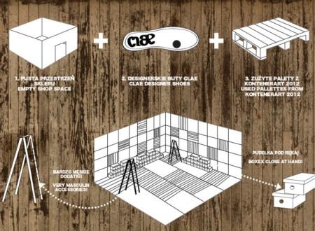 Plan d'architecture d'un magasin de chaussures