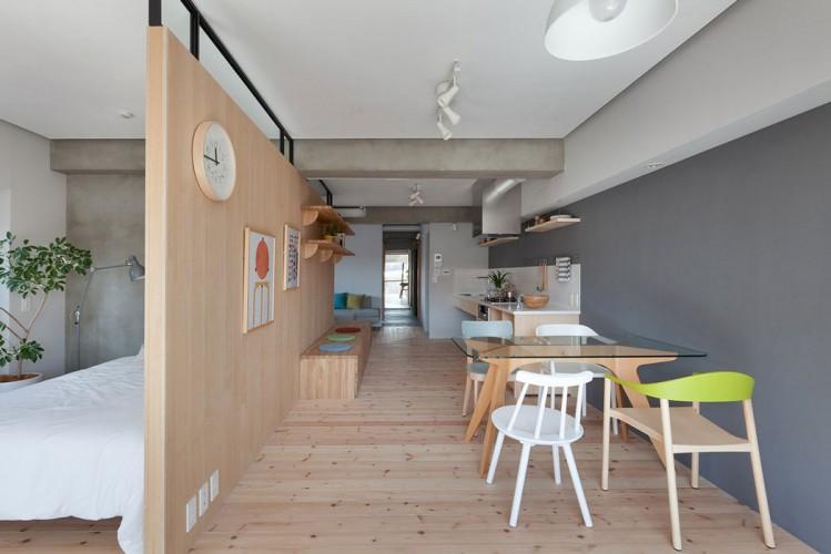 Salle a manger style moderne déco en bois
