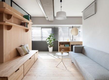 Architecture et rénovation d'un appartement tout en bois