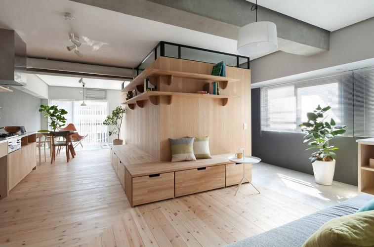 Mobilier sur mesure pour cette décoration en bois style suédois