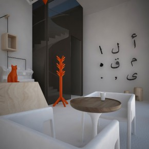 architecture d'intérieur du café al maqha