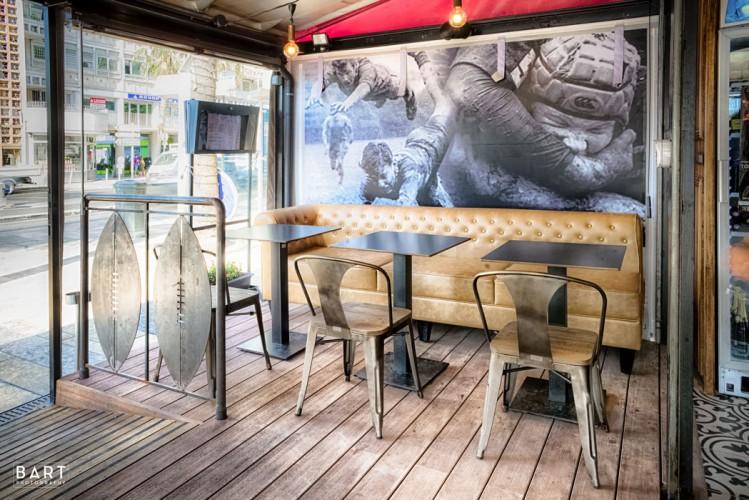 Carl TRAN architecte d'intérieur rénove la brasserie La Tribune à Toulon