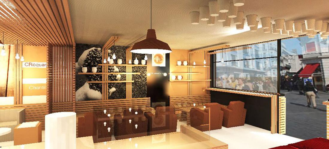 Agencement et d co d 39 int rieur d 39 un coffee shop aix for Architecte interieur aix en provence
