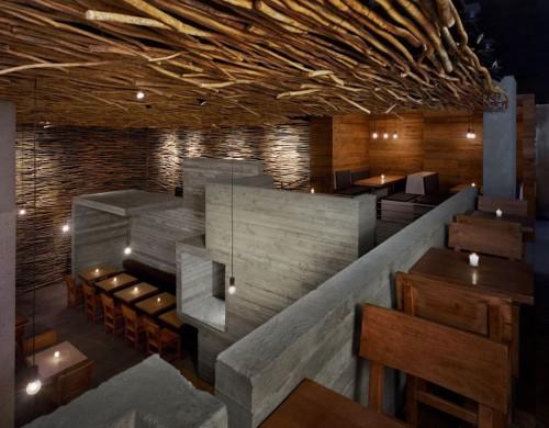 design d'intérieur d'un commerce par un agenceur architecte