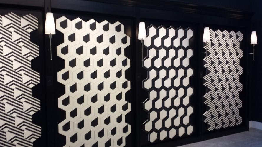 matière noir et blanc tendance