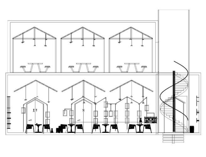 plan d'architecte du café al maqha