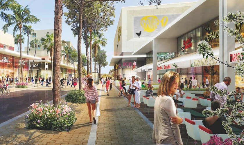 Vue plan centre commercial barneoud toulon la garde