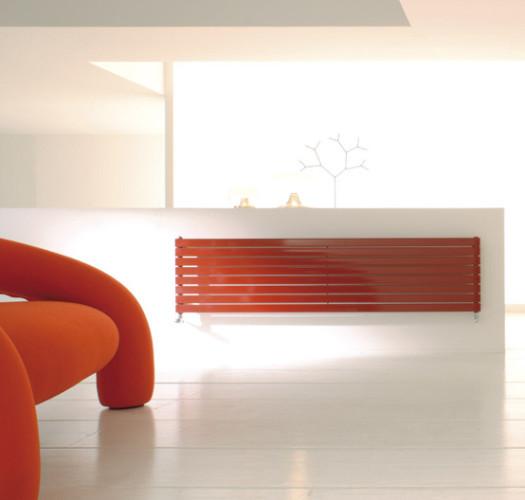 Radiateur de salon orange