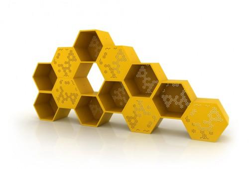 Rangement mobilier la ruche