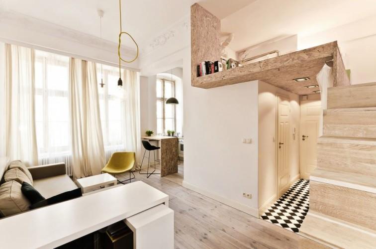 Rénovation mini appartement en bois