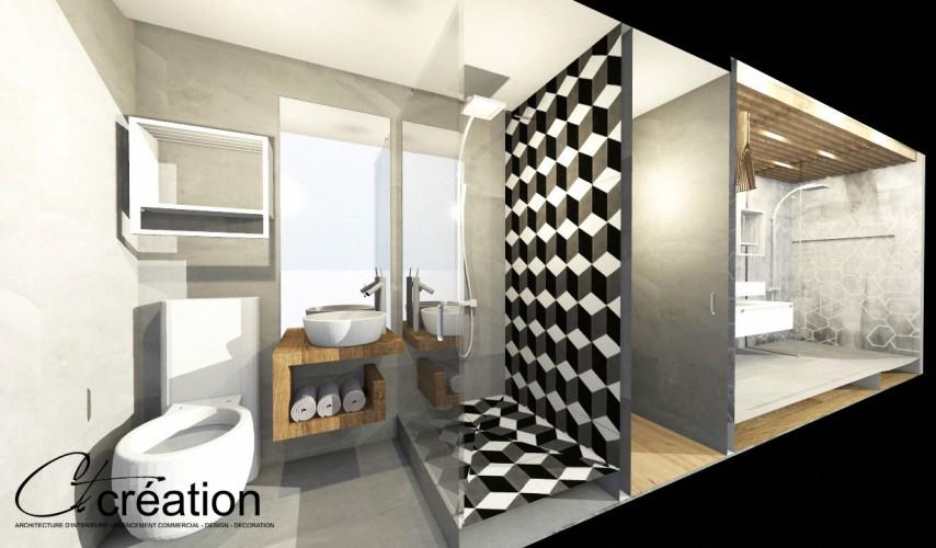 Rénovation appartement triplex à sanary par architecte d'intérieur