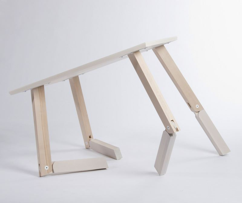 Design d 39 objet intelligent pour la table bambi - Table basse transformable en table haute ...