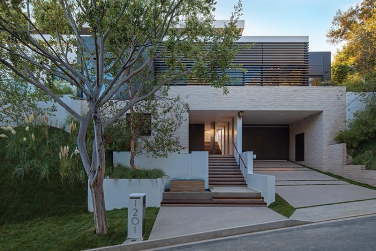Architecture maison américaine avec clostras