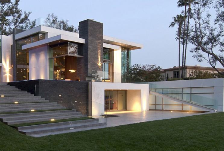 devant maison moderne luxe