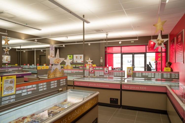 vue intérieur du magasin thiriet à La Garde, nouvelle décoration