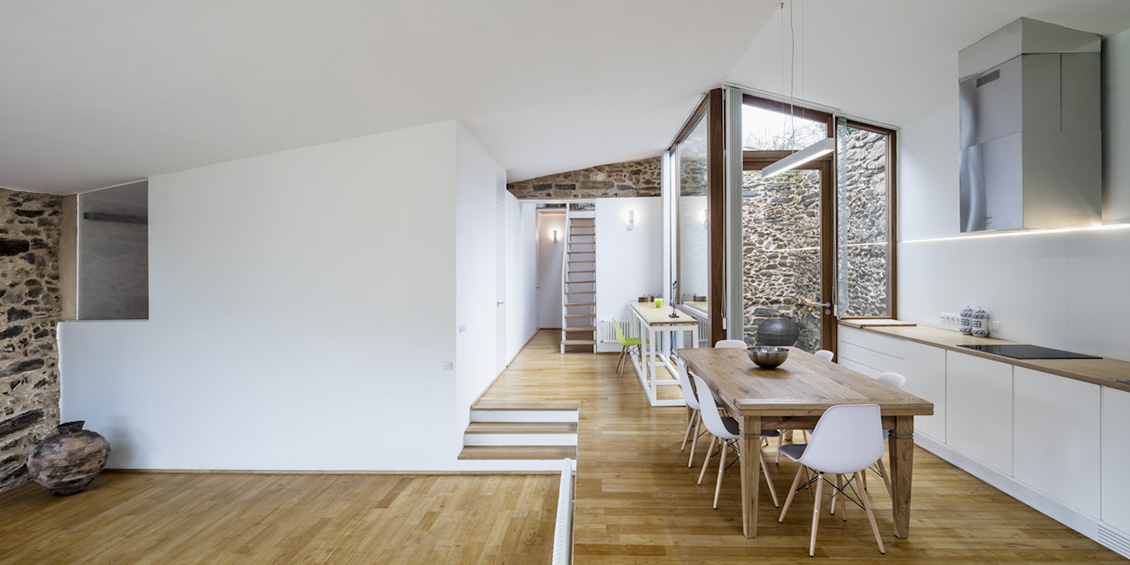 Architecture alliance de l 39 ancien et du moderne for Interieur maison d architecte