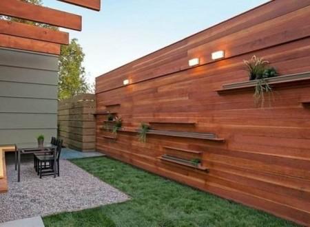 Séparateur vis à vis design jardin moderne en bois