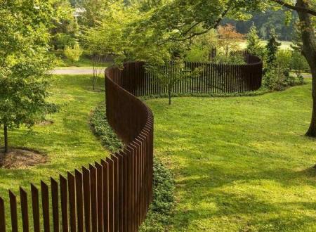 Barrière de séparation de jardin en métal