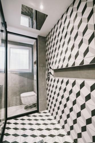 carrelage 3D dans une douche