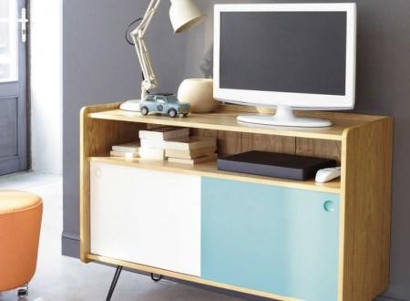Meuble tv coloré style scandinave