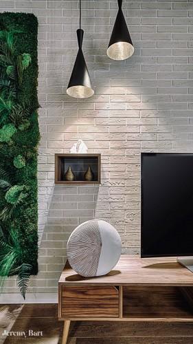 Décoration et enduit de mur style brique à toulon